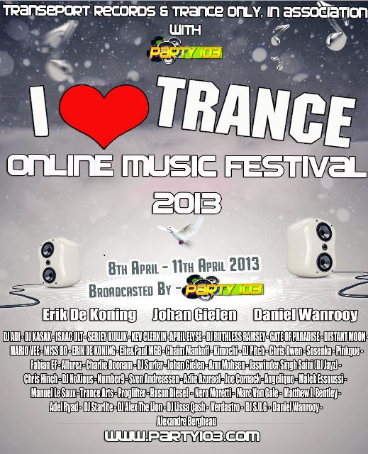 I Love Trance Music flyer